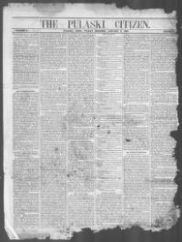 Thumbnail for the Jan. 5, 1866 edition of the The Pulaski Citizen