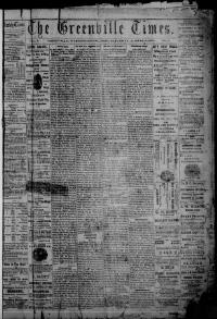 Thumbnail for the Aug.8, 1874 edition of the The Greenville Times