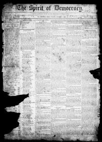 Thumbnail for the Mar. 8, 1844 edition of the The Spirit Of Democracy