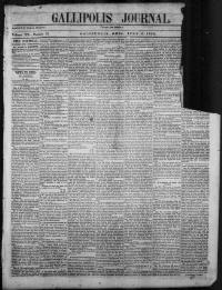 Thumbnail for the Jul. 4, 1850 edition of the Gallipolis Journal