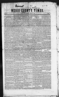 Thumbnail for the Feb. 7, 1844 edition of the Meigs County Times