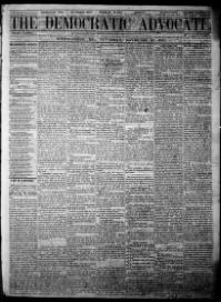 Thumbnail for the Nov. 30, 1865 edition of the The Democratic Advocate