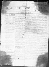 Thumbnail for the Jul. 11, 1863 edition of the Winchester Army Bulletin