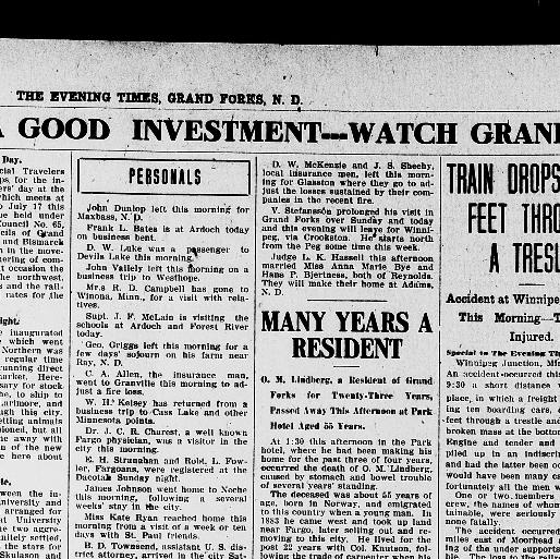 The Evening Times Grand Forks Nd 1906 1914 May 07 1906