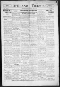 Thumbnail for the May 30, 1912 edition of the Ashland Tidings