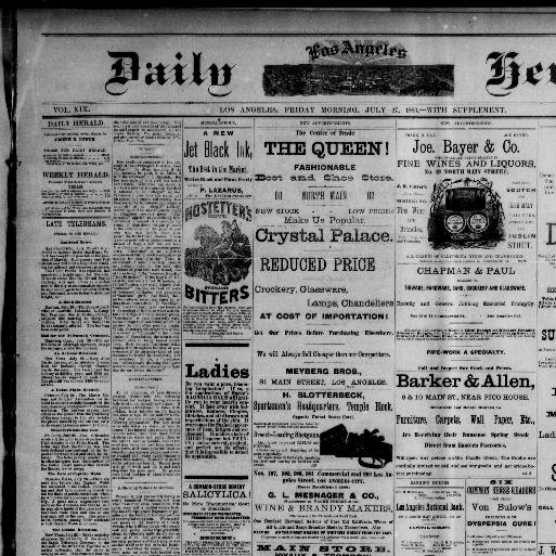Daily Los Angeles herald  [microfilm reel] (Los Angeles