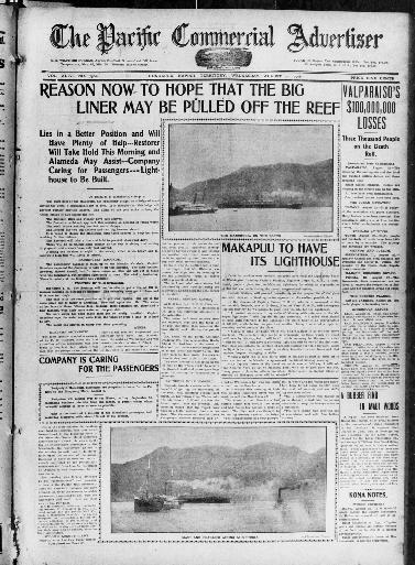 The Pacific commercial advertiser  (Honolulu, Hawaiian