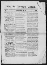 Thumbnail for the Jan. 1, 1881 edition of the The St. George Union