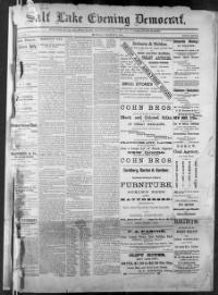 Thumbnail for the Mar.2, 1885 edition of the Salt Lake Evening Democrat