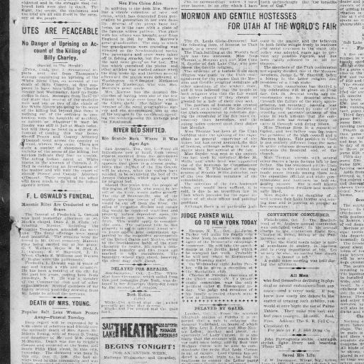 The Salt Lake Herald City Utah 1870 1909 October 03 1904 Last Edition Page 3 Image Chronicling America Library Of Congress
