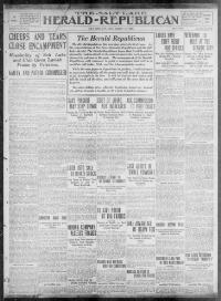 Thumbnail for the Aug. 14, 1909 edition of the The Salt Lake Herald-Republican