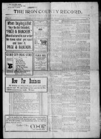 Thumbnail for the Jan.9, 1903 edition of the Iron County Record