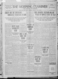 Thumbnail for the Jan. 3, 1909 edition of the The Morning Examiner
