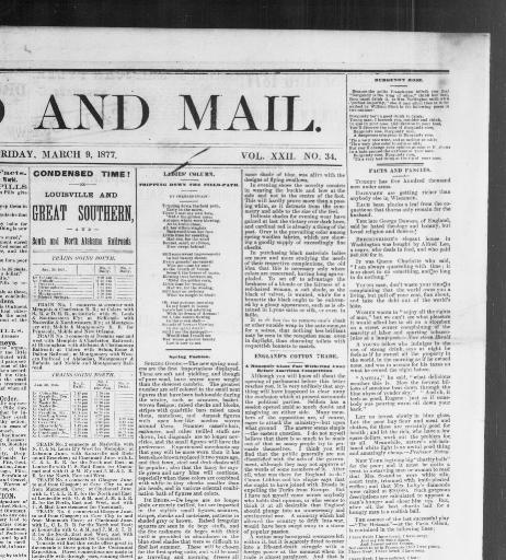 The Herald And Mail Columbia Tenn 1873 188 March 09 1877