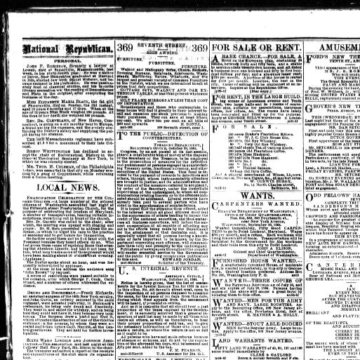 Daily national Republican  (Washington, D C ) 1862-1866