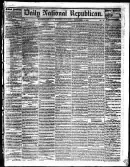 Daily National Republican December 14 1864 Third Edition Image 1 About Washington D C 1862 1866