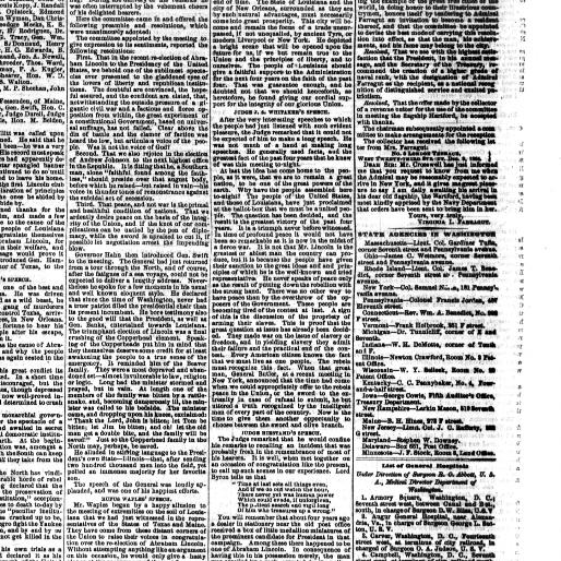Daily National Republican Washington D C 1862 1866 December 14 1864 Third Edition Image 1 Chronicling America Library Of Congress