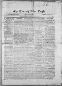 Thumbnail for the Aug. 7, 1862 edition of the The Corinth War Eagle