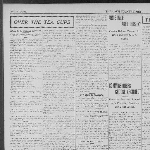 the lake county times volume hammond ind 1906 1933 february
