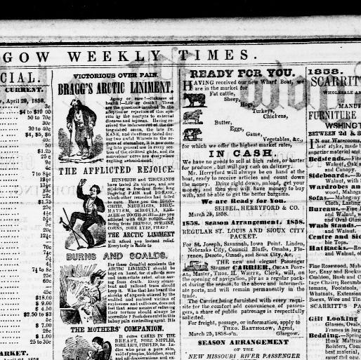 Glasgow weekly times  (Glasgow, Mo ) 1848-1861, April 29