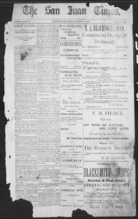 Thumbnail for the Jul. 19, 1895 edition of the The San Juan Times
