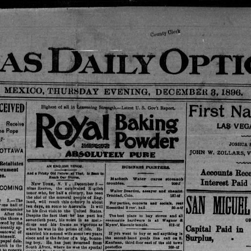 Las Vegas daily optic  (Las Vegas, N M ) 1880-1908, December 03