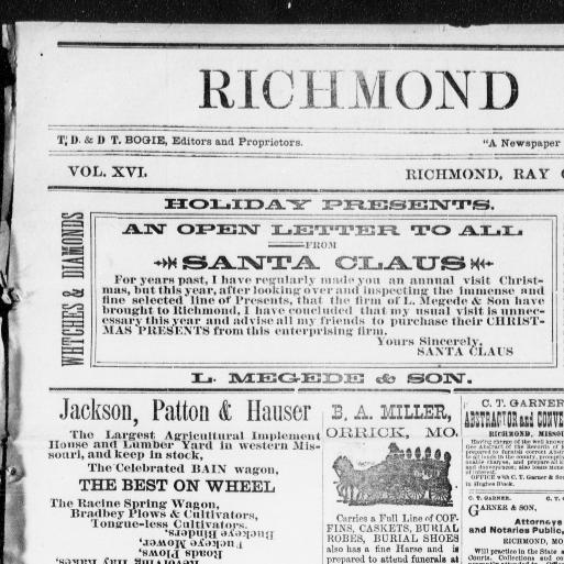 Richmond democrat  (Richmond, Ray County, Mo ) 1873-1906, December