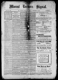 Thumbnail for the Dec. 11, 1896 edition of the Mount Vernon Signal