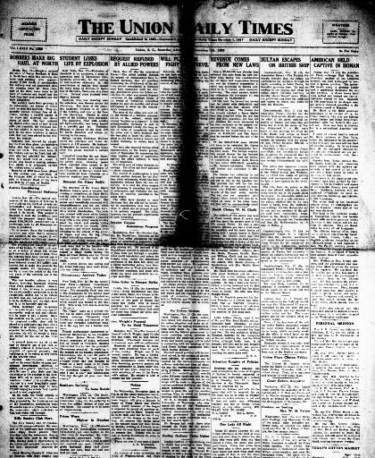 0490344fe904 The Union daily times. [volume] (Union, S.C.) 1918-current, November ...
