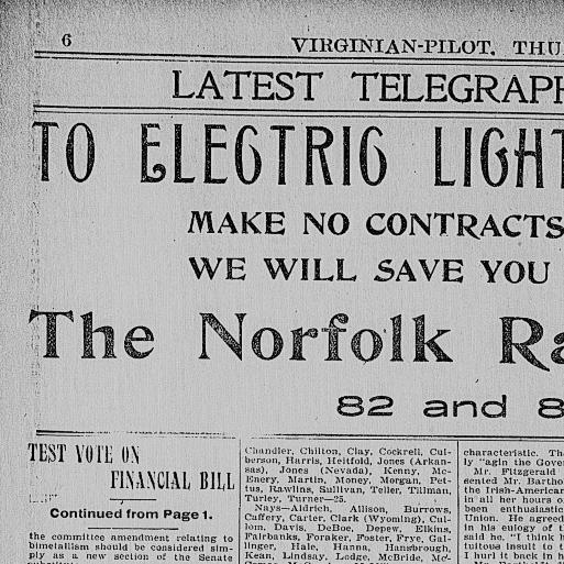 Virginian-pilot. (Norfolk, Va.) 1898-1911, February 15, 1900, Page 6 ...