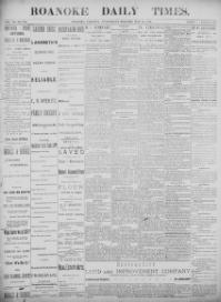 Thumbnail for the May 14, 1890 edition of the The Roanoke Times