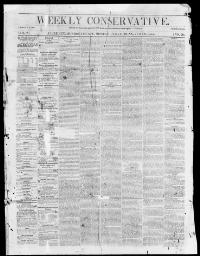 Thumbnail for the Jun. 9, 1855 edition of the Weekly Conservative