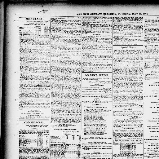 The New Orleans bulletin  (New Orleans [La ]) 1874-1876, May