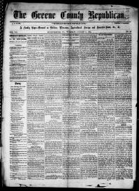 Thumbnail for the Aug. 11, 1863 edition of the The Greene County Republican