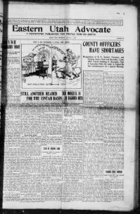 Thumbnail for the Aug. 1, 1912 edition of the Eastern Utah Advocate