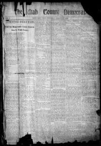 Thumbnail for the Aug. 31, 1898 edition of the The Utah County Democrat