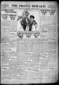 Thumbnail for the Feb. 18, 1909 edition of the The Provo Herald