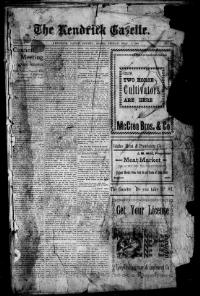 Thumbnail for the May 1, 1903 edition of the The Kendrick Gazette