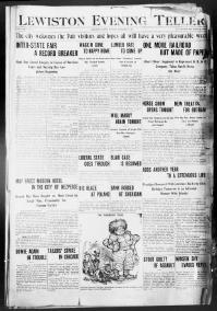 Thumbnail for the Oct. 26, 1903 edition of the Lewiston Evening Teller