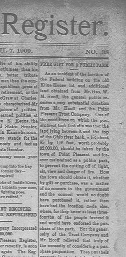 The Point Pleasant register  (Point Pleasant, W  Va ) 1909