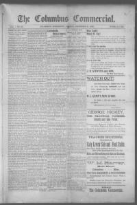 Thumbnail for the Dec. 8, 1895 edition of the The Columbus Commercial