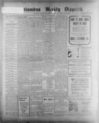 Thumbnail for the Feb. 26, 1903 edition of the The Columbus Weekly Dispatch