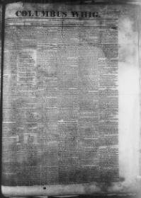 Thumbnail for the Dec. 14, 1843 edition of the Columbus Whig