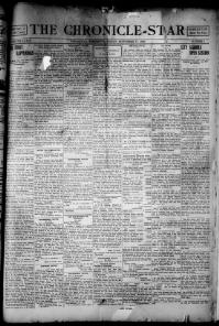 Thumbnail for the Sept. 17, 1920 edition of the The Chronicle-Star