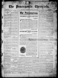 Thumbnail for the Jun. 22, 1918 edition of the The Pascagoula Chronicle