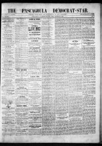 Thumbnail for the Mar. 29, 1878 edition of the The Pascagoula Democrat-Star