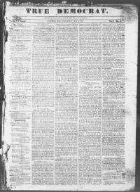 Thumbnail for the May 21, 1845 edition of the True Democrat