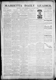 Thumbnail for the Jan. 1, 1896 edition of the Marietta Daily Leader
