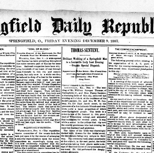 springfield daily republic springfield o ohio 1887 1888 Safety Officer Resume springfield daily republic springfield o ohio 1887 1888 december 09 1887 image 1 chronicling america library of congress