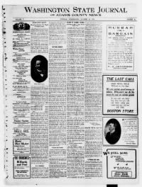 Thumbnail for the Oct. 24, 1906 edition of the Washington State Journal And Adams County News